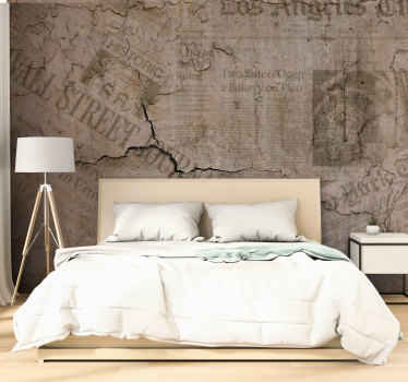 What could be a better gift to give to yourself or someone you know than this beautiful vintage wallmural design? Home delivery for this nice design!