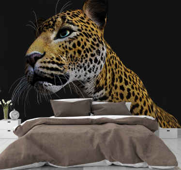 If you feel you are a real fan of Leopards you should have this perfect and colorful 3D fierce leopard  Lounge Wall Mural. Easy to apply.