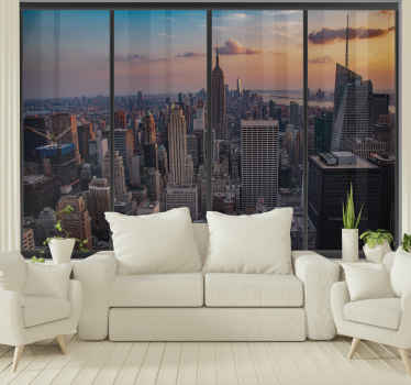 Everybody will be jealous of this amazing New York wall mural wallpaper! 