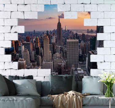 New York wall mural will modernize every part of your home by bringing the urban spirit and creating a fantastic effect in the heart of the apartment.