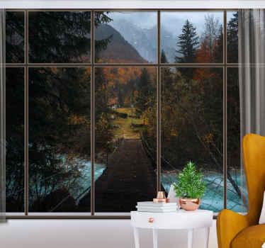 这张树壁纸照片不仅具有装饰效果,还可以为您的房间营造深度和透视感。进行购买!