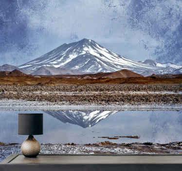 """fotomural vinílico autocolante de parede de montanha """"lago de montanha nos andes"""": um projeto para criar um ambiente calmo e relaxante em qualquer lugar."""