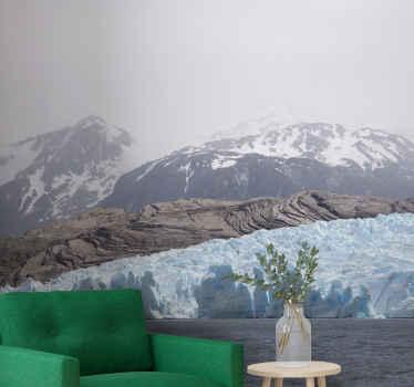 Landskab tapet foto af imponent gletscher dette fantastiske design rammer med sin enkelhed og kunstneriske stemning. Ekstremt langtidsholdbart materiale.