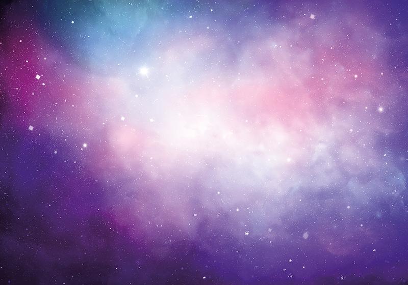 TenStickers. tapeta za stenske roza in vijolične galaksije. Neverjetno in vrhunsko stensko tematiko fototapeta! Kot nalašč za okrasitev povsod! Zelo enostaven za uporabo protialergičen! Kupiti na spletu! Dostava na dom