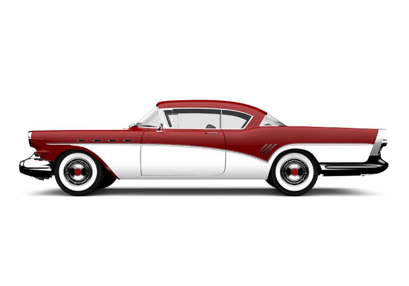 """TenStickers. Rdeča klasična avtomobilska stenska poslikava. Super starinski freski """"rdeči klasični avtomobil"""" kot nalašč za okrasitev povsod doma in v pisarni. Vzemi svojega zdaj! Dostava na dom! Prilagojene nalepke."""