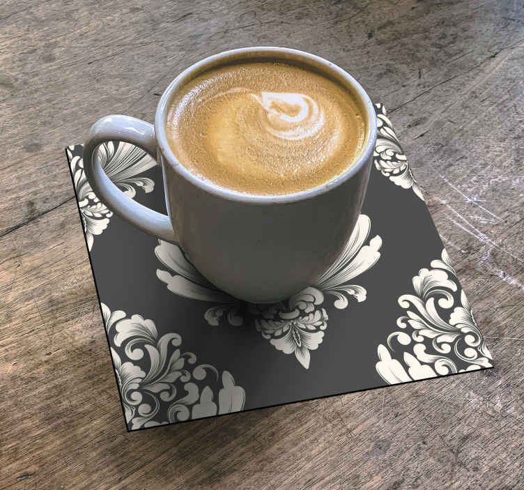 TenStickers. Floral bouquet drink coaster. Flowers pattern drink coaster to serve all your amazing beverages and coffee. The product is made with high quality material and easy to maintain.