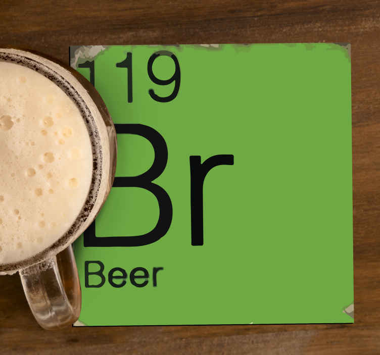 TenStickers. Periodic table geeky coasters. Periodic table geek coasters to enjoy a good drink time.  The product is made of high quality and it is has resistant ability.