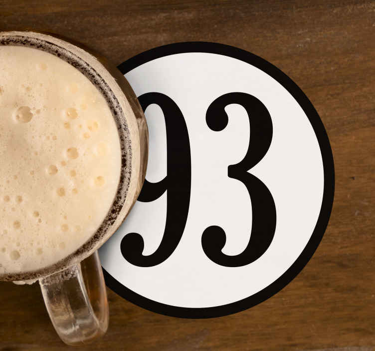 TenStickers. Custom number round personalised beer mats. Personalize your signature number with our drink coaster of high quality material. It is easy to maintain and it is available in pack sets.