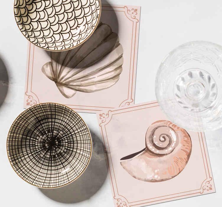 Tenstickers. Simpukankuoret simpukankuoren lasinaluset. Jos rakastat klassisia koristeita ja haluat antaa pöydällesi merenalaisen kosketuksen, nämä simpukankuoret ovat täydellisiä sinulle.
