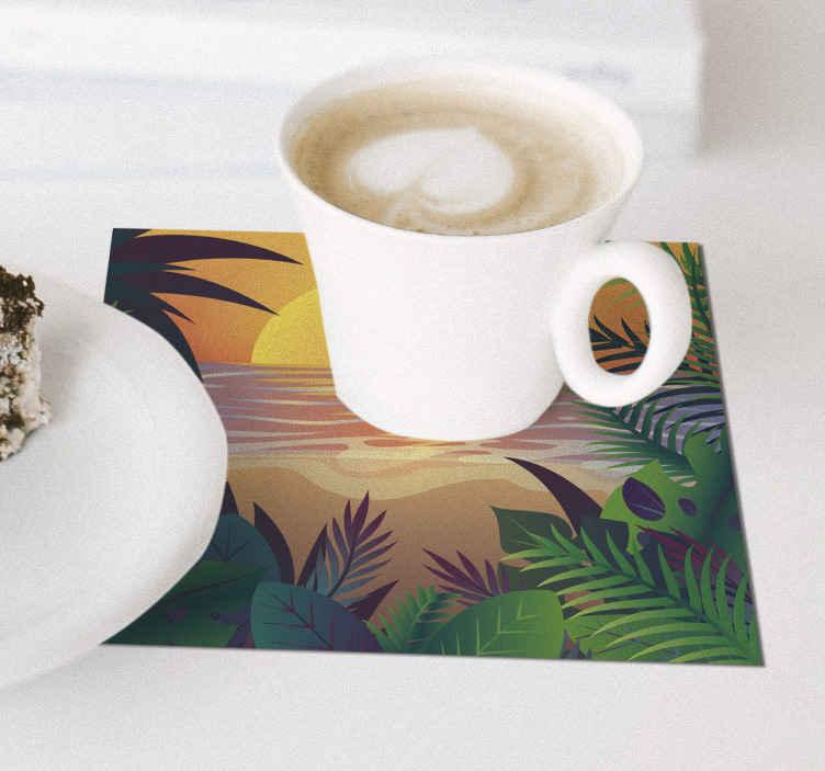 TenStickers. 复古太阳海滩70年代杯垫套. 一组令人惊叹的70年代主题乙烯基杯垫,会让您的所有客人羡慕不已。立即注册即可享受首次订单10%的折扣。