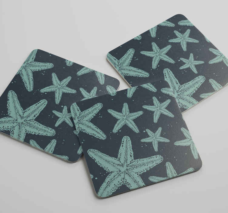 TenStickers. Starfish bluetones sea coaster. Do you like these starfish bluetones sea coasters? 