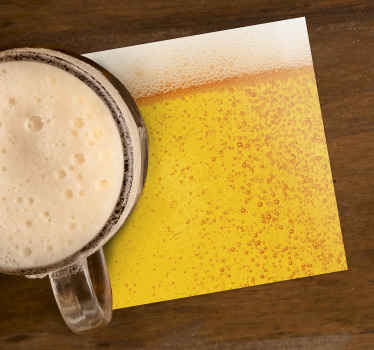 This beer texture coaster is perfect for anyone who loves beer. Use it at home or pubs and bars. Several different sizes available.