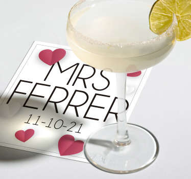 This personalized wedding coaster adds a personal touch to all your wedding decoration. Design your own coaster and leave your guests impressed.