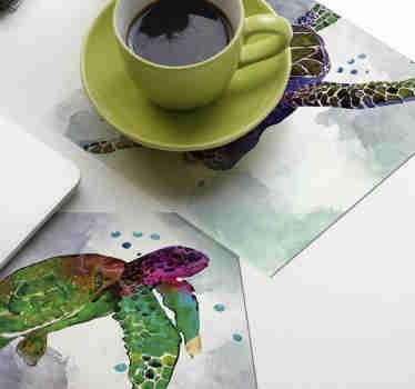 Denna färgglada djurfartyg är perfekt för människor som älskar sköldpaddor. Abstrakt färgglad design för att dra upp allas uppmärksamhet!