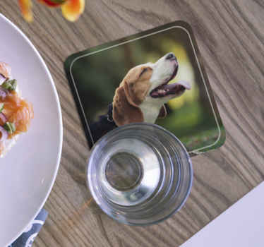 Personalised dog coaster which features a personalised image of your furry friend! High quality materials used. Worldwide delivery.