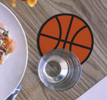 バスケットボールの形をしたコースターのセットが特徴のバスケットボールコースターセット。高品質の素材を使用。世界的な配達。