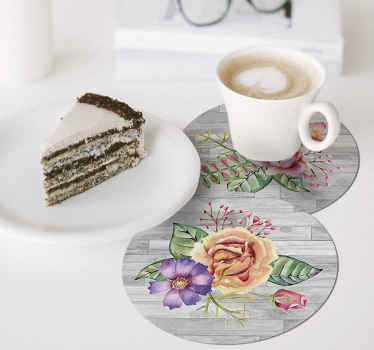 Amazing floral coasters for drinks to protect your surfaces with! Extremely long-lasting material that will be just perfect fo you.