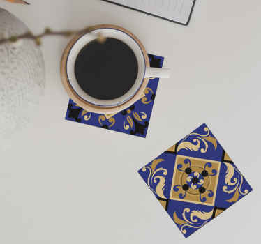 Portuguese tile coasters made out of vinyl will be a long-lasting decoration that you will be proud of. Sign up to get a 10% discount!