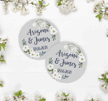 Floral Wedding customisable wedding coaster to add that little something extra to your special day! Choose the exact quantity you need.