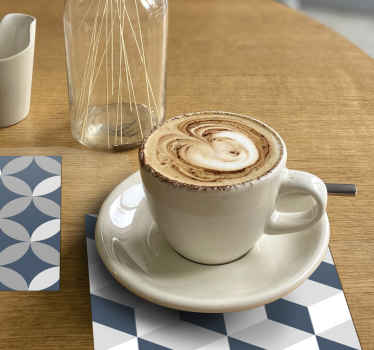 Beautiful and classy grey pattern modern coaster to serve all your drinks in civilized and modern style. Easy to maintain and made of high quality.