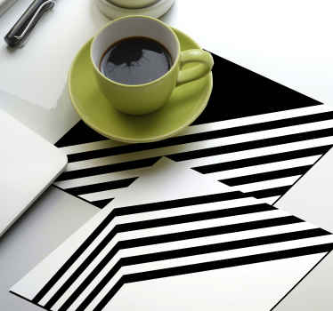 Modern stripes pattern drink coaster design that would suit perfectly on your drink table space. Available in any different packs.
