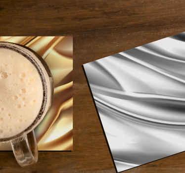您肯定会喜欢的杯垫杯垫设计。它以逼真的金属效果外观设计。由优质材料制成。