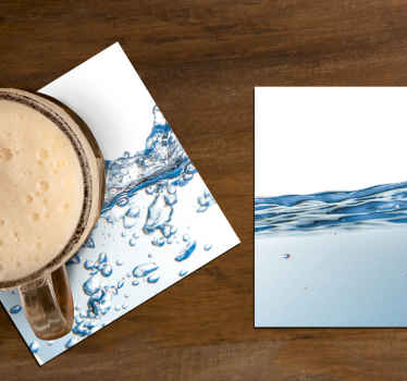 Water effect drink coaster design to  enjoy your drink time on a table. It is made of best quality material and easy to maintain.