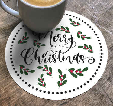 Fantastic Christmas drink mat design to enjoy Christmas merriment with your family. The product is made with high quality material.