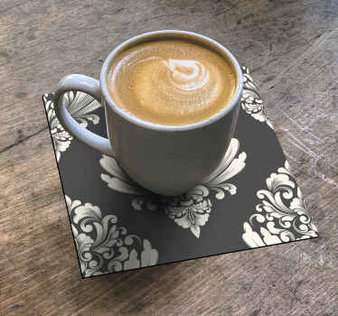 Un dessous de verre fleurs pour servir toutes vos boissons et votre café. Ce produit est conçu sur fond avec des fleurs ornementales. Facile à entretenir !