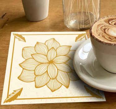 Drank grote bloem met rand onderzetter om op tafel te zetten om uw drankjes te serveren in de keuken en bij het dineren. Het is gemakkelijk schoon te maken en verkrijgbaar in verpakkingen
