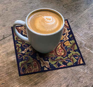 An elegant dink coaster design with realistic paisley design to brighten your day. Easy to maintain and available in different pack sets.