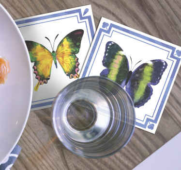 Butterfly coaster set for table. Enjoy your drink been served on our quality drink with butterfly pattern. It is original, durable and durable.