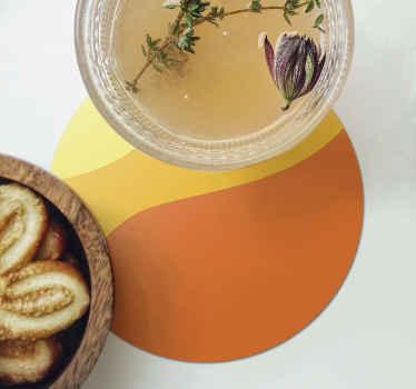 Ensemble de sous-verres originaux à rayures pour protéger vos meubles des boissons d'une si belle manière. 4,6 et 8 packs disponibles!