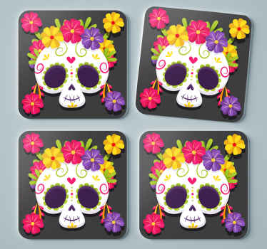 Decorate your table with our day of the dead coaster and place them under your favorite drink. Just chose the right packing. Order now!