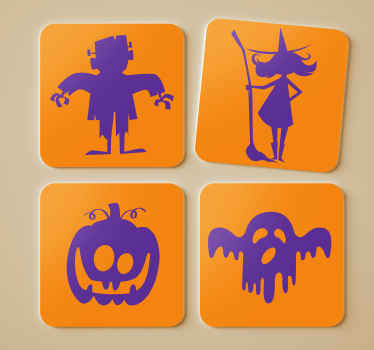 Decorate your living room with these scary halloween coasters and enjoy the good quality of the products. Order now through our website!