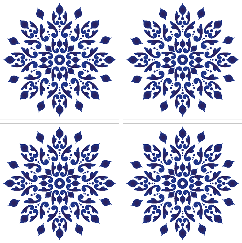 TenStickers. Blue Portuguese round classic tile coaster. You want a chic and subtle addition for your home decorations? This classic tile coaster will fit into your home wonderfully.