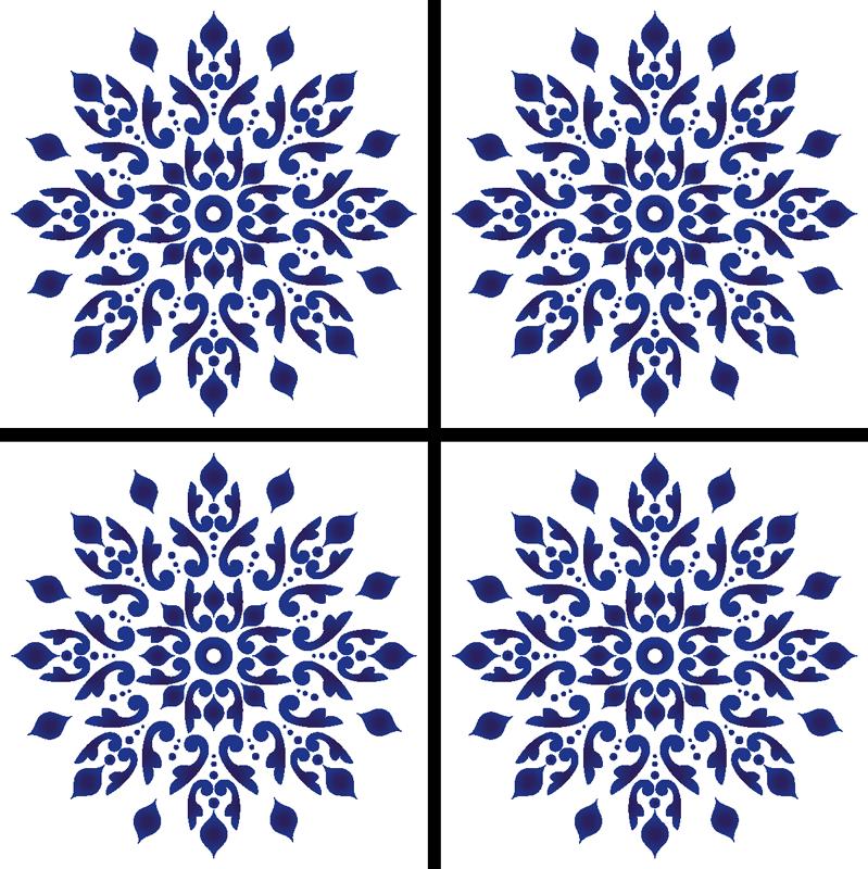 TenVinilo. Posavasos azulejo portugués vintage. ¿Quieres una adición elegante y sutil para la decoración de tu hogar? Este clásico posavasos encajará perfectamente en tu hogar