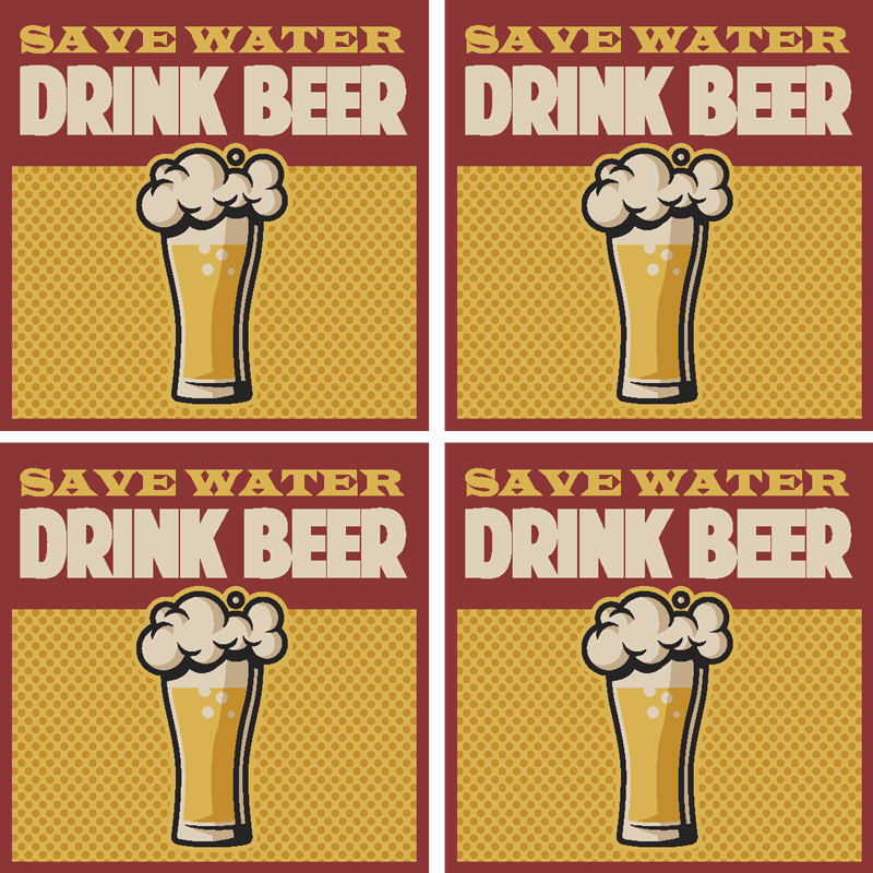 TenStickers. Save water drink beer quote coaster. If you think water should be substituted for beer, this beer coaster is perfect for you. Buy it now for your next party!