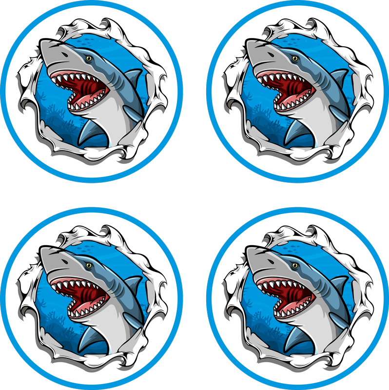 TenStickers. Big shark face 3d coaster. A funny and unique 3d coaster that has shark coming through it. The product is made with top quality materials so it will last a long time.