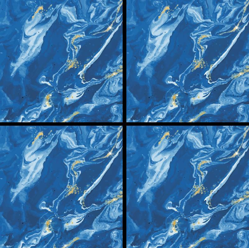 TenStickers. dessous de verre tres moderne Effet aquarelle bleu. Magnifique dessous de verre moderne effet aquarelle bleu pour servir toutes vos boissons, café et thé. Facile à entretenir et en sticker de haute qualité.