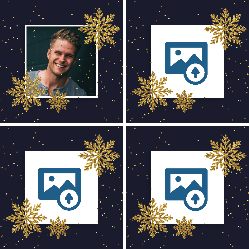 TenStickers. Christmas frame with photo personalised coasters. Customize your own image on our original drink coaster design with any image of choice. The product is original and made of good quality.