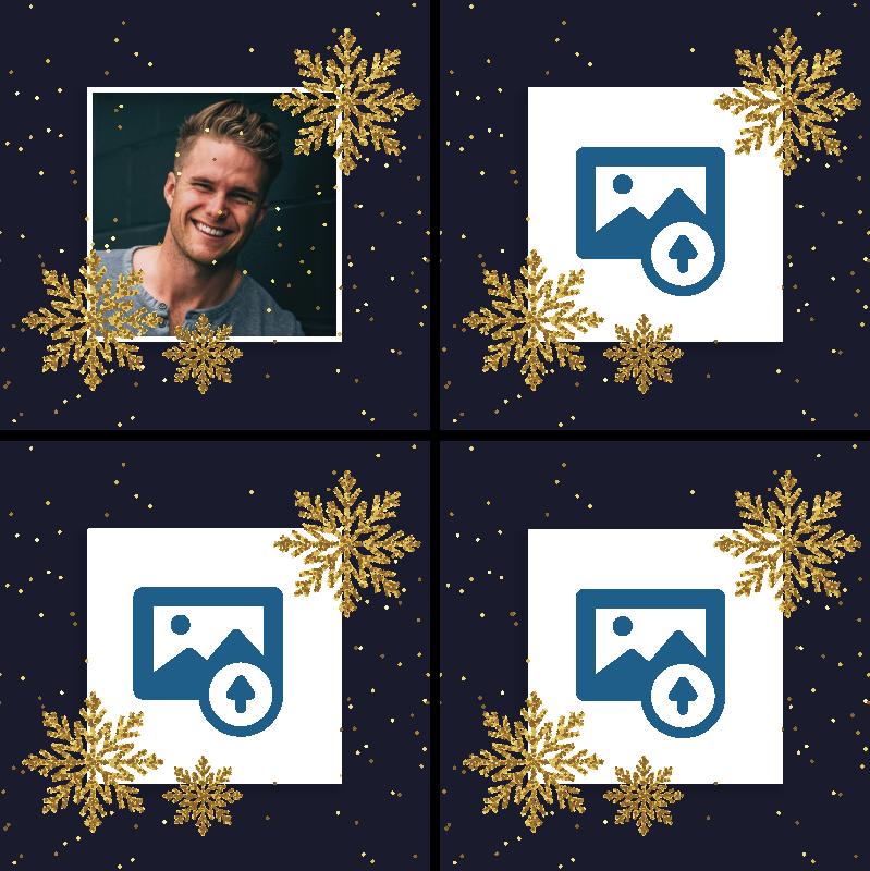 TENSTICKERS. 写真パーソナライズされたコースターとクリスマスフレーム. 選択した任意の画像を使用して、オリジナルのドリンクコースターデザインで独自の画像をカスタマイズします。製品はオリジナルで、高品質で作られています。