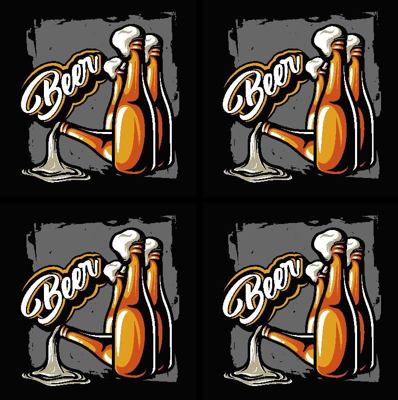 Tenstickers. ölflaska björnunderlägg. Vintage ölflaska för att servera dina öl och drycker hemma och i restauranger och barutrymmen. Produkten är tillverkad av högkvalitativt material.