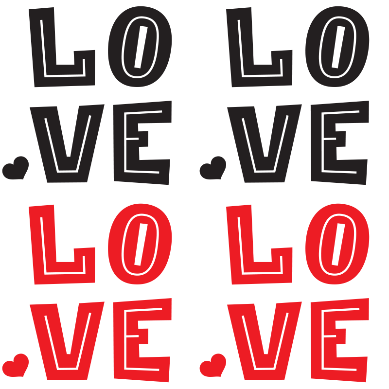TenStickers. Love in red and black sayings coasters. Love text drink coaster to place drinks and beverages on your table with class. It is available in pack sets and easy to use.
