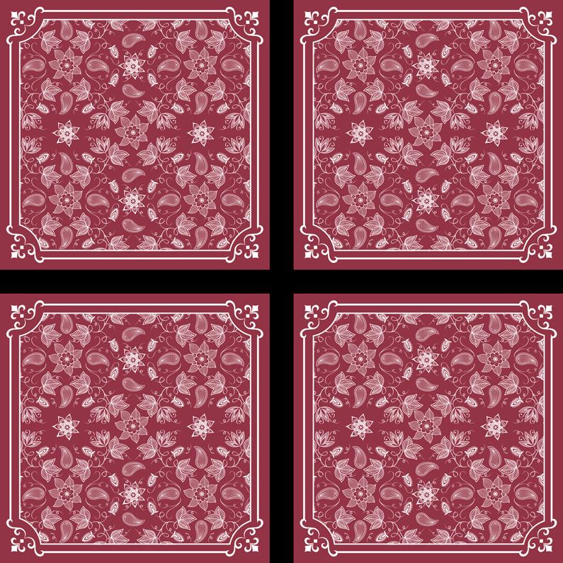 TenVinilo. Posavasos paisley patrón floral rojo. Un increíble posavasos rojo con diseño ornamental de paisley. Está hecho con material de alta calidad y es fácil de limpiar ¡Envío a domicilio!