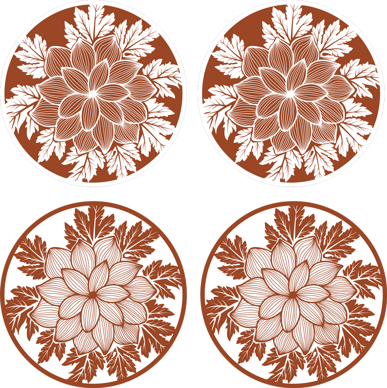 TenStickers. Floral Paisley tile drink coaster. Decorate the dining table for family dinning with our original drink coaster made with high quality material. It is easy to maintain.