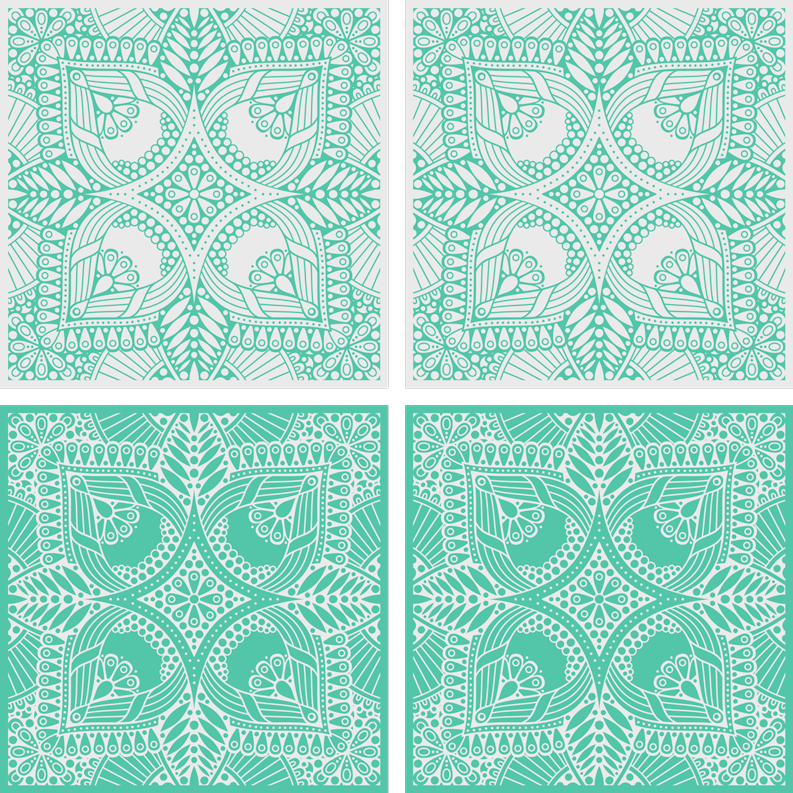 TenStickers. Ornamental draw tile drink coaster. A really amazing green color drink coaster for your home space and  for restaurants and bars. It is available in different pack categories.