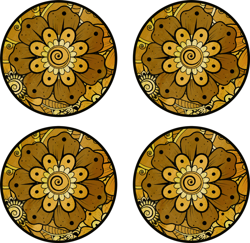 TenStickers. Paisley Indian style  drink coaster. Paisley Indian style drink coaster for your home, office and business places to serve drink. It is easy to maintain and available in different packs.