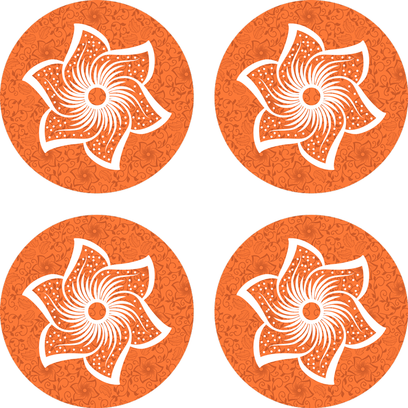 TenStickers. Paisley flowers drink coaster. Show your class and elegance with your drink service in our original round drink coaster. It is made from high quality material and easy to maintain.