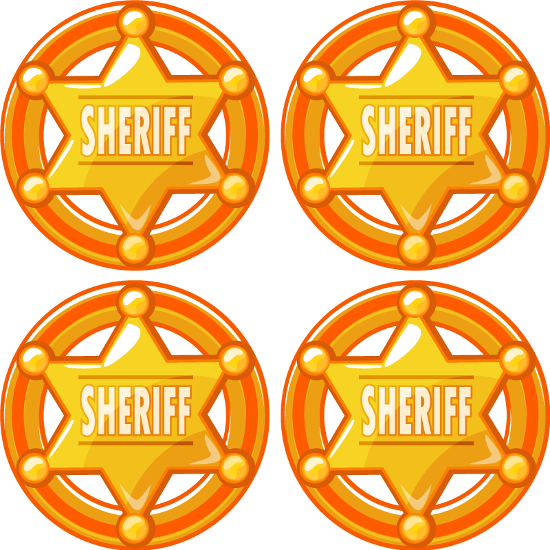 TenStickers. Cowboy star with name drink coaster. Special drink coaster designed with an iconic sheriff officer's badge in golden colour. It is easy to maintain and store.